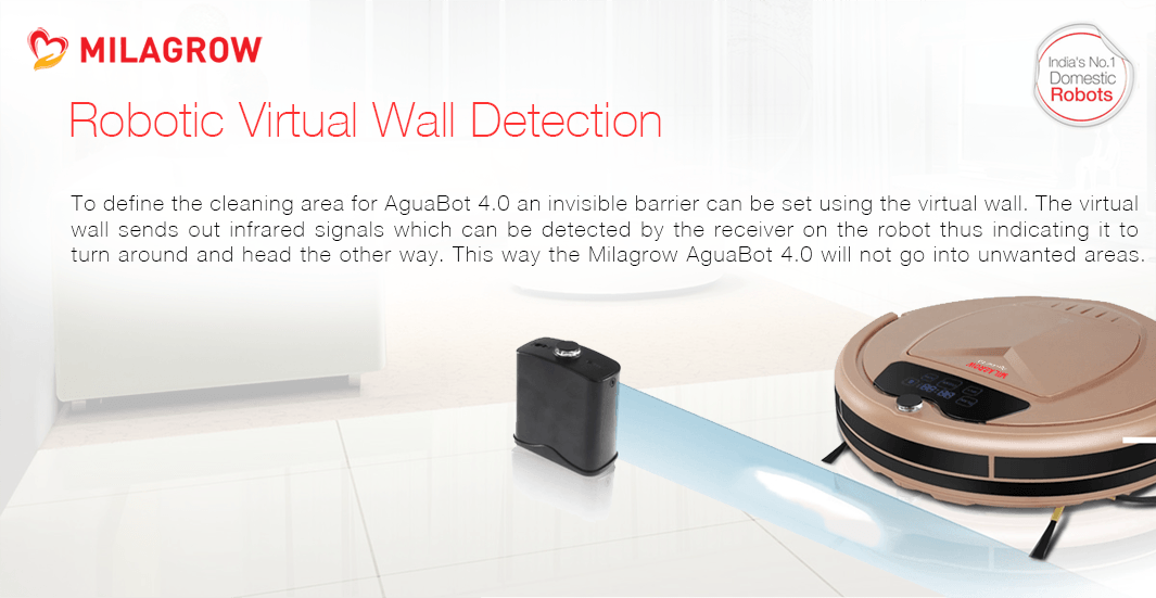 Robotic Virtual Wall Detection