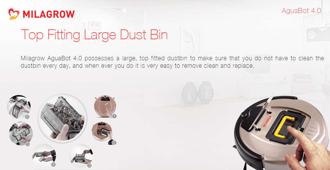 Top Fitting Large Dust Bin